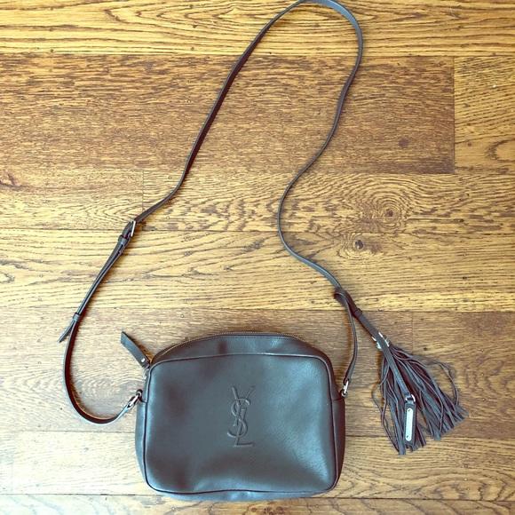 5e5f75bf409 YSL Small Mono Leather Camera Bag - Asphalt. M 5b0b616f3afbbdb43586fecf